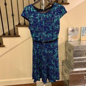Jessica Howard Blue Multi-colored Dress